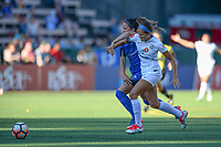 Seattle, WA - Friday June 23, 2017: Lauren Barnes and Shea Groom during a regular season National Women's Soccer League  (NWSL) match between the Seattle Reign FC and FC Kansas City at Memorial Stadium.