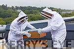 Brian Nealon and Odran Lucey, Executive chef who are acting as Beekeepers at the Rose hotel