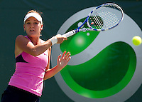 Agnieszka RADWANSKA (POL) against Ana IVANOVIC (SRB) in the third round of the women's singles. Radwanska beat Ivanovic 7-5 7-5..International Tennis - 2010 ATP World Tour - Sony Ericsson Open - Crandon Park Tennis Center - Key Biscayne - Miami - Florida - USA - Sat 27 Mar 2010..© Frey - Amn Images, Level 1, Barry House, 20-22 Worple Road, London, SW19 4DH, UK .Tel - +44 20 8947 0100.Fax -+44 20 8947 0117