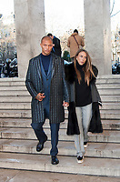 January 19 2018, PARIS FRANCE The Cerruti 1881 Show at the Fashion week<br /> Spring Summer 2018 at Palais Tokyo Paris.<br /> Top Model Jeremy Meeks and his girlfriend<br /> are present.