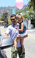 Jessica_Alba took her family to a shopping at the posh kids store Bel Bambini in West Hollywood. Jessica, hubby Cash Warren, Honor and_Haven were spotted leaving the boutique with balloons and a huge gift basket. Los Angeles, California on 23.06.2012..Credit: Correa/face to face.. /MediaPunch Inc. ***FOR USA ONLY*** ***Online Only for USA Weekly Print Magazines*** / Mediapunchinc NORTEPHOTO.COM<br />