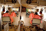 PHILIPPINES, Palawan, Puerto Princessa, Joey Unisex barbershop on Rizal Avenue
