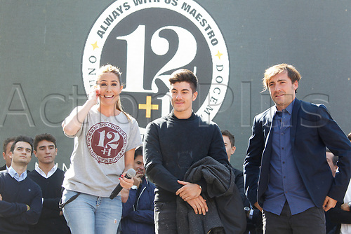 "16th September 2017, madrid, Spain; Ainhoa Arbizu during homage ""Memorial Angel Nieto 12+1"" in Madrid, for the famous motorcycle rider Angel Nieto who was killed in a traffic accident in Ibiza last month"