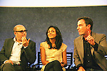 """USA's White Collar cast: (L to R) Jeff King - Willie Garson """"Mozzie"""", Marsha Thomason """"Diana"""", Tim DeKay """"Peter Burke"""" were a part of White Collar Comes Clean at the Paley Center for Media, New York City, NY on June 7, 2010. (Photo by Sue Coflikn/Max Photos)"""