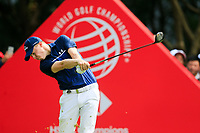 Matthew Fitzpatrick (ENG) on the 3rd tee during the 3rd round of the WGC HSBC Champions, Sheshan Golf Club, Shanghai, China. 02/11/2019.<br /> Picture Fran Caffrey / Golffile.ie<br /> <br /> All photo usage must carry mandatory copyright credit (© Golffile | Fran Caffrey)