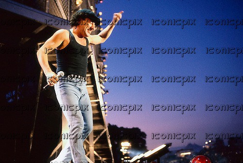 AC/DC - performing live at the Monsters of Rock at Castle Donington UK - 17 Aug 1991.  Photo credit: PG Brunelli/IconicPix