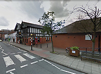 BNPS.co.uk (01202 558833)Pic: Google/BNPS<br /> <br /> A Blue plaque was unveiled in 2009 on the site of where Chapel Street once stood - nowadays a Thai restaurant.<br /> <br /> 'The Bravest Little Street in England'.<br /> <br /> The remarkable story of a humble street which was described by the king as 'the bravest in England' is told in a new book.<br /> <br /> The inhabitants of Chapel Street in Altrincham, Greater Manchester, displayed an unrivalled devotion of duty when Lord Horatio Kitchener made the rallying call for men to enlist in the First World War.<br /> <br /> From the tight-knit community of just 60 houses, a staggering 161 men volunteered - 81 of them on the first day.<br /> <br /> Tragically, however, 29 men from the street were killed in action, more than from any other street in England.