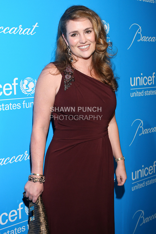 Town & Country Associate Editor, Gillian Hearst Simonds, arrives at the UNICEF Snowflake Ball, Presented by Baccarat, at Cipriani 42nd Street, November 30, 2010.