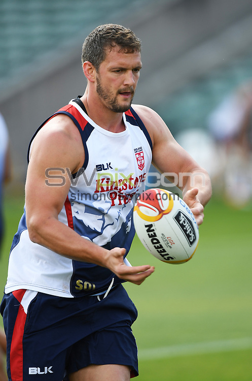 England captain Sean O'Loughlin.<br /> England Rugby League squad training at QBE Stadium, Albany, New Zealand. Wedneday 22 November 2017 ahead of the Rugby League World Cup semi-final against Tonga.<br /> &copy; Copyright Photo: Andrew Cornaga / www.photosport.nz MANDATORY CREDIT/BYLINE : Andrew Cornaga/SWpix.com/PhotosportNZ