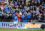 Tynecastle away and Nikica Jelavic scores to seal a 2-0 win and runs to the travelling support.
