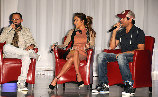 WWW.ACEPIXS.COM . . . . .  ....April 30 2012, LA....Singers Yandel, Jennifer Lopez and Enrique Iglesias announce their Summer Tour at Boulevard3 on April 30, 2012 in Hollywood, California.....Please byline: PETER WEST - ACE PICTURES.... *** ***..Ace Pictures, Inc:  ..Philip Vaughan (212) 243-8787 or (646) 769 0430..e-mail: info@acepixs.com..web: http://www.acepixs.com