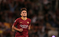 Football, Serie A: AS Roma - Frosinone, Olympic stadium, Rome, 26 September 2018. <br /> Roma's Cengiz Under celebrates after scoring during the Italian Serie A football match between AS Roma and Frosinone at Olympic stadium in Rome, on September 26, 2018.<br /> UPDATE IMAGES PRESS/Isabella Bonotto