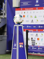 20191116 – LYON ,  FRANCE ; Matchball is pictured before the women's soccer game between Olympique Lyonnais and PARIS SG on the 9th matchday of the French Women's first league , D1 of the 2019-2020 season , Saturday 16 th November 2019 at the Groupama stadium in Lyon , France . PHOTO SPORTPIX.BE   SEVIL OKTEM