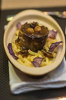 Europe/France/Midi-Pyrénées/32/Gers/Auch: Joue de bœuf braisée au gratin de macaroni , recette de Sébastien Charlin, chef de l'annexe de l'Hôtel de France: la  Brasserie: Le 9e - Hôtel-Restaurant: L'Hôtel de France -