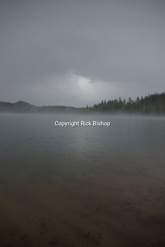 Navajo Lake seen on a summer storm day in southern Utah's, Dixie National Forest.