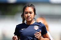 Cary, North Carolina  - Saturday August 19, 2017: Caprice Dydasco prior to a regular season National Women's Soccer League (NWSL) match between the North Carolina Courage and the Washington Spirit at Sahlen's Stadium at WakeMed Soccer Park. North Carolina won the game 2-0.