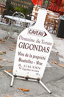 wine shop domaine du terme gigondas rhone france