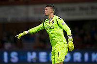8th November 2019; Dens Park, Dundee, Scotland; Scottish Championship Football, Dundee Football Club versus Dundee United; Benjamin Siegrist of Dundee United sends signals to his defense - Editorial Use