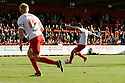 Greg Tansey of Stevenage scores the winning goal. Stevenage v Scunthorpe United - npower League 1 -  Lamex Stadium, Stevenage - 6th October, 2012. © Kevin Coleman 2012