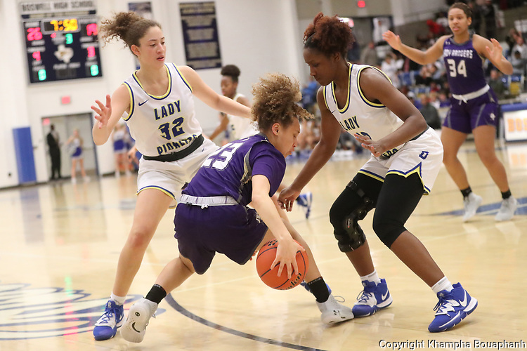 Boswell plays Chisholm Trail in 7-5A high school basketball on Tuesday, January 21, 2020. (Photo by Khampha Bouaphanh)