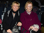 Mary McGuinness and Josie Harmon pictured at the Augustinian Gospel Choir show at the Barbican Centre. Photo:Colin Bell/pressphotos.ie