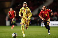 18th November 2019; Wanda Metropolitano Stadium, Madrid, Spain; European Championships 2020 Qualifier, Spain versus Romania;  Romario Benzar (Romania) breaks forward on the ball  - Editorial Use