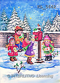 Interlitho, Dani, CHRISTMAS SANTA, SNOWMAN, nostalgic, paintings, 4 kids, mailbox(KL5642,#X#) Weihnachten, nostalgisch, Navidad, nostálgico, illustrations, pinturas