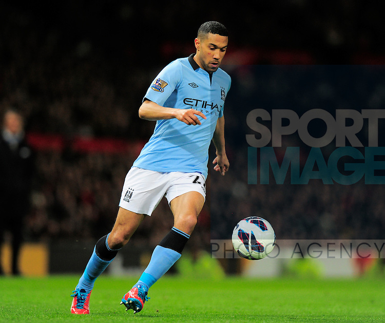 Gael Clichy of Manchester City - Barclays Premier League - Manchester Utd vs Manchester City - Old Trafford Stadium - Manchester- England  - 08/04/13 - Picture Simon Bellis/Sportimage