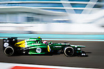 Giedo van der Garde of Netherlands and Caterham F1 Team drives during the Abu Dhabi Formula One Grand Prix 2013 at the Yas Marina Circuit on November 3, 2013 in Abu Dhabi, United Arab Emirates. Photo by Victor Fraile / The Power of Sport Images