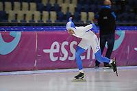 SCHAATSEN: HEERENVEEN: 05-10-2013, IJsstadion Thialf, Trainingwedstrijd, 5000m, Jan van Loon, ©foto Martin de Jong