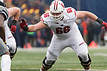 Wisconsin Badgers offensive lineman Beau Benzschawel (66) during an NCAA College Big Ten Conference football game against the Illinois Fighting Illini Saturday, October 28, 2017, in Champaign, Illinois. The Badgers won 24-10. (Photo by David Stluka)