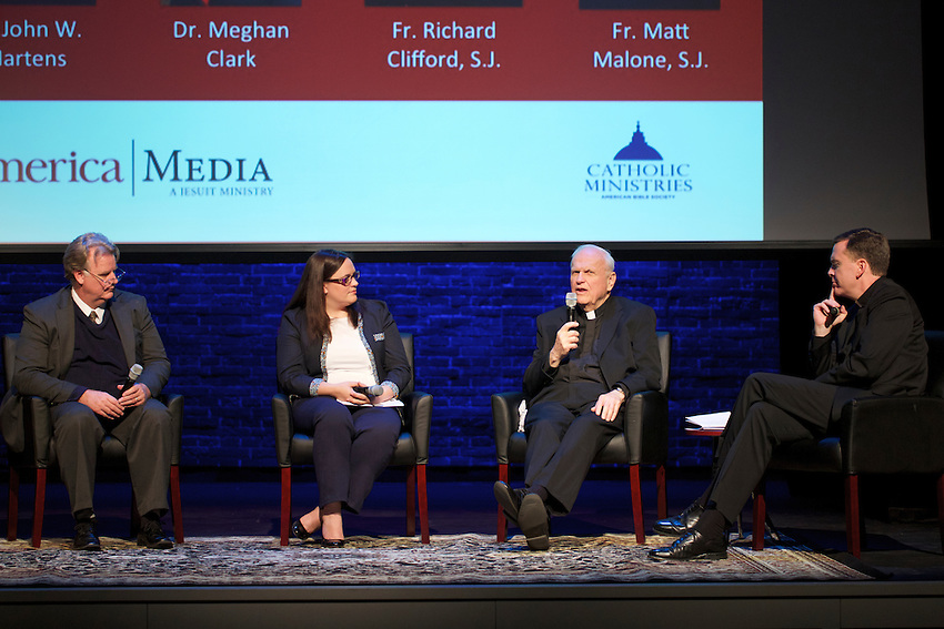 NEW YORK, NY - March 1, 2016: Panel discussion, The Word of God in Modern Life, hosted by America Magazine at The Sheen Center.<br /> CREDIT: Clay Williams for America Magazine.<br /> <br /> &copy; Clay Williams / claywilliamsphoto.com