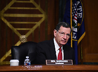 "United States Senator John Barrasso (Republican of Wyoming) listens to opening remarks at a hearing titled ""Oversight of the Environmental Protection Agency"" in the Dirksen Senate Office Building on May 20, 2020 in Washington, DC. Andrew Wheeler, Administrator, United States Environmental Protection Agency (EPA) will be asked about the rollback of regulations by the Environment Protection Agency since the pandemic started in March.     <br /> Credit: Kevin Dietsch / Pool via CNP/AdMedia"