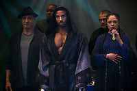 Creed II (2018) <br /> (Creed 2)<br /> Sylvester Stallone, Michael B. Jordan and Tessa Thompson <br /> *Filmstill - Editorial Use Only*<br /> CAP/MFS<br /> Image supplied by Capital Pictures