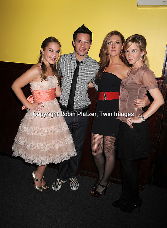 """Kristen Alderson, Jason Tam,BethAnn Bonner and  Justis Bolding of One Life To Live..at The """"Kathy Brier and Friends"""" concert at The Metropolitan Room in New York City benefitting the Eos ..Theatre Company on May 16, 2008.....Robin Platzer, Twin Images"""