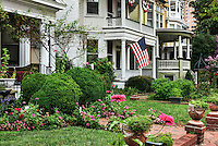 Historic homes in old town historic district, Portsmouth, Virginia, USA