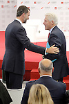 "Former U.S.A. President Bill Clinton (r) with Prince Felipe of Spain during his speech in Congress ""LAUREATE & JOBS SUMMIT ON YOUTH"".May 21,2013. (ALTERPHOTOS/Acero)"