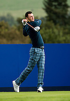 23.09.2014. Gleneagles, Auchterarder, Perthshire, Scotland.  The Ryder Cup.  Martin Kaymer (EUR) tees off on the 18th during his practice round.