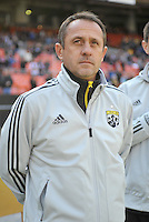 Columbus Crew head coach Robert Warzycha during the presentation of the team. The Columbus Crew defeated D.C. United 2-1 ,at RFK Stadium, Saturday March 23,2013.