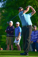 Beau Hossler (USA) watches his tee shot on 10 during round 2 of the Shell Houston Open, Golf Club of Houston, Houston, Texas, USA. 3/31/2017.<br /> Picture: Golffile | Ken Murray<br /> <br /> <br /> All photo usage must carry mandatory copyright credit (&copy; Golffile | Ken Murray)