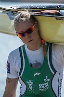 Brandenburg. GERMANY.<br /> IRL W1X, Single sculler Sanita PUSPURE 2016 European Rowing Championships at the Regattastrecke Beetzsee<br /> <br /> Saturday  07/05/2016<br /> <br /> [Mandatory Credit; Peter SPURRIER/Intersport-images]