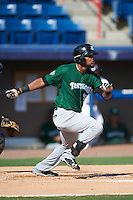 Daytona Tortugas designated hitter Reydel Medina (50) at bat during a game against the Brevard County Manatees on August 14, 2016 at Space Coast Stadium in Viera, Florida.  Daytona defeated Brevard County 9-3.  (Mike Janes/Four Seam Images)