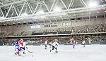 Stockholm 2015-03-13 Bandy SM-final herrar Sandvikens AIK - V&auml;ster&aring;s SK :  <br /> Vy &ouml;ver Tele2 Arena med publik och tomma l&auml;ktarsektioner under matchen mellan Sandvikens AIK och V&auml;ster&aring;s SK <br /> (Foto: Kenta J&ouml;nsson)<br /> Nyckelord:  SM SM-final final Bandyfinal Bandyfinalen Dam Damer Dambandy AIK Kareby IS inomhus interi&ouml;r interior  supporter fans publik supporters