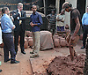 """PRINCE ANDREW.The Duke of York, watches a potter mix clay during his visit to Kumbharwada (potter's dwellings) at Dharavi Slum in Mumbai, India_May 2, 2012..The Duke of York, who is representing Queen Elizabeth II in the year of her Diamond Jubilee is on a week long tour of India..Mandatory Credit Photo: ©Solaris-NEWSPIX INTERNATIONAL..(Failure to credit will incur a surcharge of 100% of reproduction fees)..                **ALL FEES PAYABLE TO: """"NEWSPIX INTERNATIONAL""""**..IMMEDIATE CONFIRMATION OF USAGE REQUIRED:.Newspix International, 31 Chinnery Hill, Bishop's Stortford, ENGLAND CM23 3PS.Tel:+441279 324672  ; Fax: +441279656877.Mobile:  07775681153.e-mail: info@newspixinternational.co.uk"""