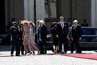 Roma, 20 Giugno 2017<br /> La Regina M&aacute;xima dei Paesi Bassi, Laura Mattarella, il Re Willem Alexander e Sergio Mattarella.<br /> Quirinale<br /> Visita di Stato dei Reali dei Paesi Bassi in Italia