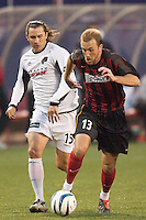 Clint Mathis of the MetroStars is marked by Chad Deering of the Burn. The Dallas Burn were defeated by the NY/NJ MetroStars 2-1 on 5/24/03 at Giant's Stadium, East Rutherford, NJ.