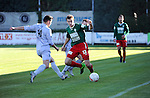 2015-11-01 / Voetbal / seizoen 2015-2016 / Groen-Rood Katelijne - Houtvenne / Ief Van Gansen (Houtvenne) tussen Philippe De Smet (l.) en Maxim Put<br /><br />Foto: Mpics.be
