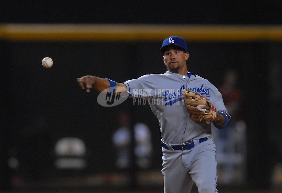 Jun 25, 2007; Phoenix, AZ, USA; Los Angeles Dodgers shortstop (15) Rafael Furcal against the Arizona Diamondbacks at Chase Field. Mandatory Credit: Mark J. Rebilas
