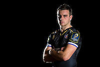 George Ford poses for a portrait in the 2015/16 European kit during a Bath Rugby photocall on December 1, 2015 at Farleigh House in Bath, England. Photo by: Patrick Khachfe / Onside Images