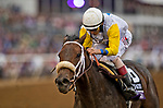 DEL MAR, CA - NOVEMBER 03: Forever Unbridled #6, ridden by John Velazquez, wins the Longines Breeders' Cup Distaffon Day 1 of the 2017 Breeders' Cup World Championships at Del Mar Race Track on November 3, 2017 in Del Mar, California. (Photo by Alex Evers/Eclipse Sportswire/Breeders Cup)